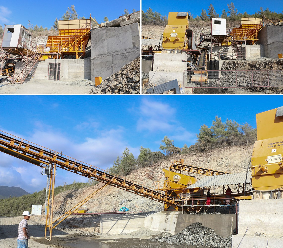 90 Crushing screening plant how many tons stone is break per hour?