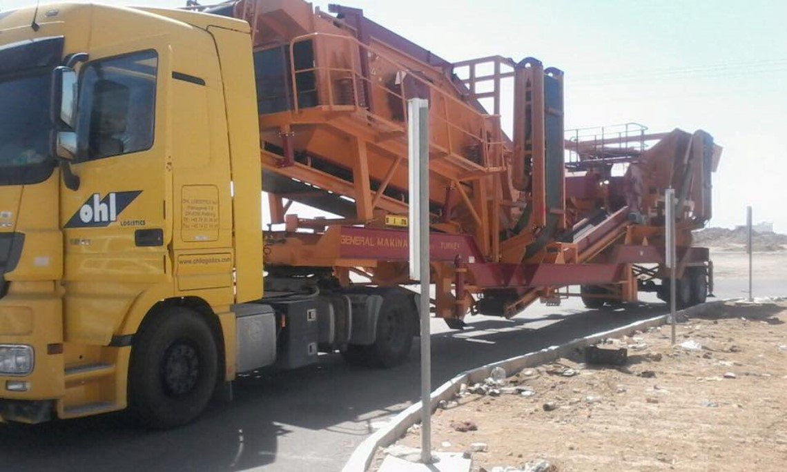 General 640 Mobile Stone Crushing Screening Plant in Medina