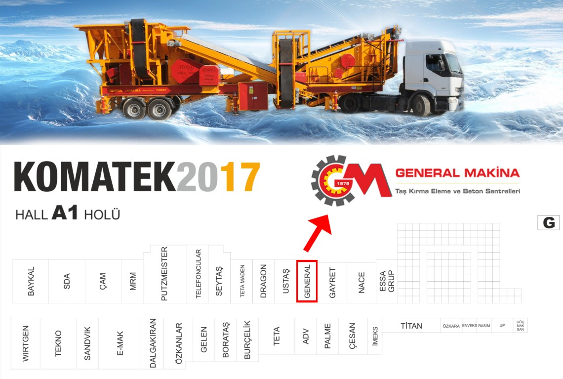 Meet with General Machinery at KOMATEK Exhibition 2017!