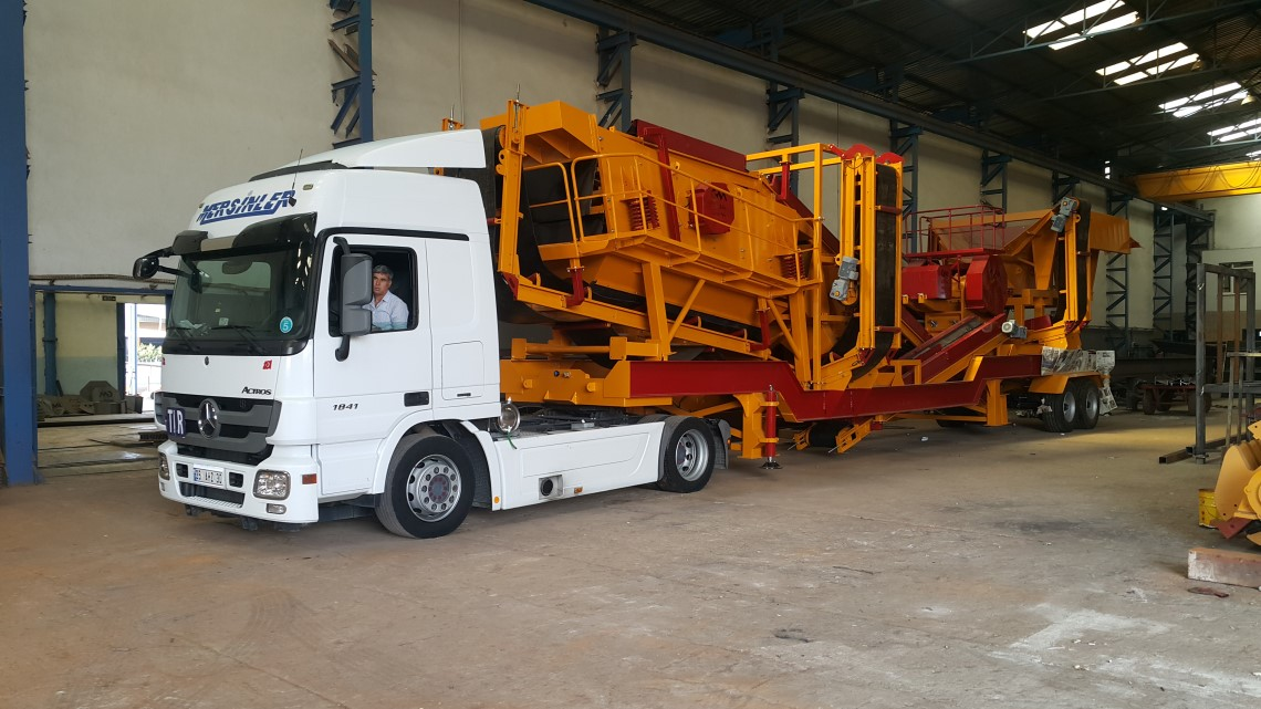 Mobile Crushing and Screening Plant Order Completed – Anamur